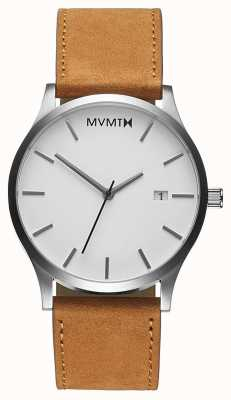 MVMT Classic White Tan | Brown Leather Strap | White Dial D-L213.1L.331