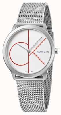 Calvin Klein   Minimal   Stainless Steel Mesh Bracelet   Silver Dial   K3M52152