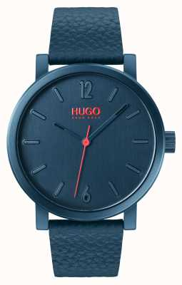 HUGO #Rase | Blue Leather Strap | Blue Dial 1530116
