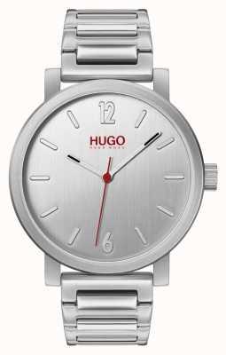 HUGO #Rase   Stainless Steel Bracelet   Silver Dial 1530117