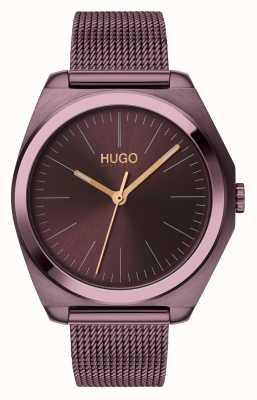 HUGO #Imagine   Aubergine IP Mesh   Aubergine Dial 1540027