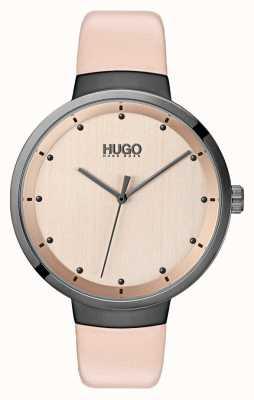HUGO #Go   Pink Leather Strap   Rose Gold Dial 1540001
