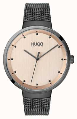 HUGO #Go   Grey IP Mesh   Rose Gold Dial 1540003