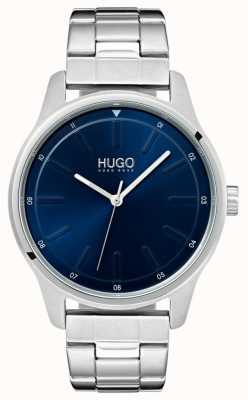 HUGO #dare   Stainless Steel Bracelet   Blue Dial 1530020