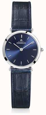 Michel Herbelin | Womens | Epsilon | Blue Leather Strap | Blue Dial | 17106/15BL