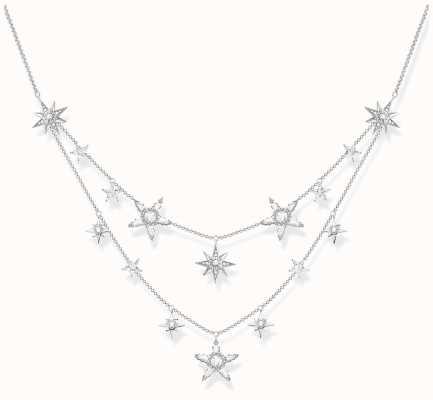 Thomas Sabo | Necklace Stars | 925 Sterling Silver | Zirconia White KE1901-051-14-L45V