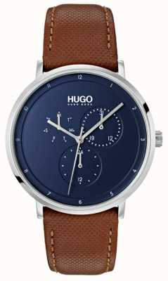 HUGO #guide | Brown Leather Strap | Blue Dial 1530032