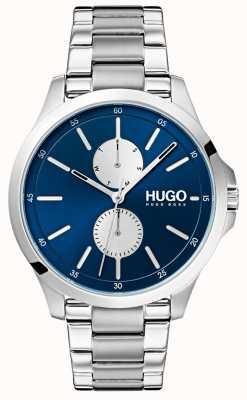 HUGO #jump   Stainless Steel Bracelet   Blue Dial 1530004