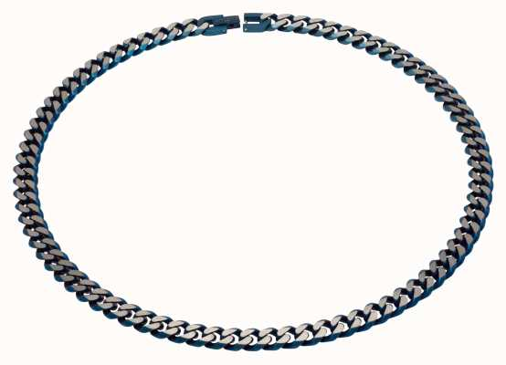 Unique & Co Stainless Steel | Matte Blue IP |  9mm | Necklace LAK-130/50CM