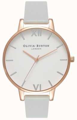 Olivia Burton   Womens   Big Dial   Grey Vegan Strap   OB16BDV02