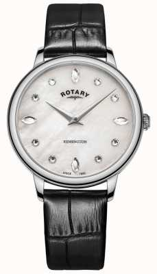 Rotary | Women's Kensington | Crystal Dial | Black Leather LS05170/41