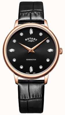 Rotary | Women's Kensington | Crystal Black Dial | LS05174/04