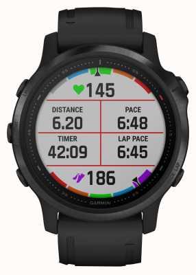 Garmin Fenix 6S Pro | Multisport Smartwatch | Black Rubber Strap 010-02159-14