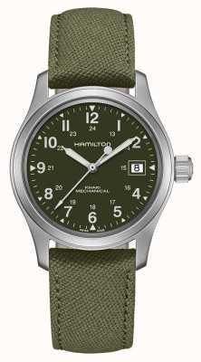 Hamilton | Khaki Field | Officer Mechanical | Green Canvas Strap | H69439363