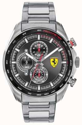 Scuderia Ferrari   Men's Speed-Racer   Stainless Steel Bracelet   Black Dial 0830652