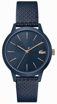Lacoste | Women's 12.12 | Blue Leather Strap | Blue Dial | 2001091