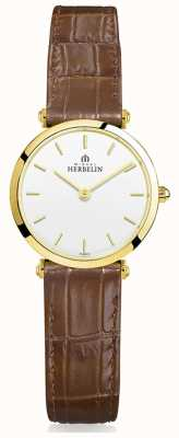 Michel Herbelin | Womens | Epsilon | Brown Leather Strap 17106/P11GO