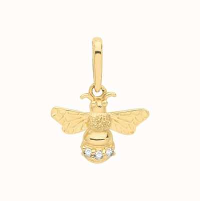 Treasure House 9ct Yellow Gold  Small Cubic Zirconia Bee Pendant Only PN1127