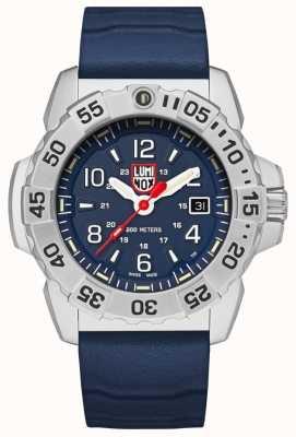 Luminox   Navy Seal Steel 3250 Series   Blue Rubber Strap  Blue Dial XS.3253