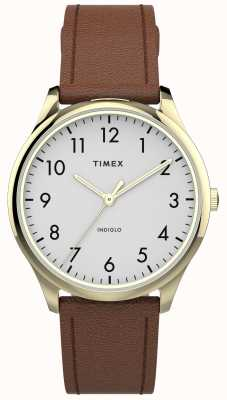 Timex | Easy Reader 32mm | Tan Leather Strap | White Dial | TW2T72300
