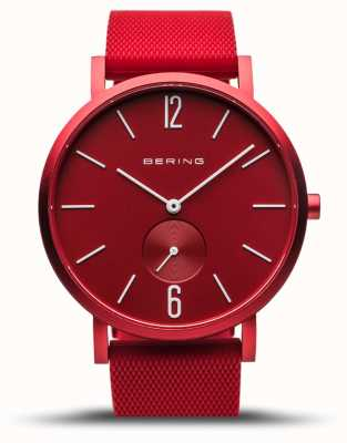 Bering   True Aurora   Red Rubber Strap   Red Dial   16940-599