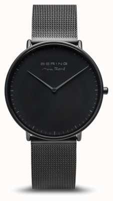 Bering   Max René   Men's Mat Black   Black Steel Bracelet   15738-123