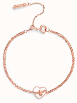 Olivia Burton | Love Bug | White And Rose Gold | Chain Bracelet | OBJLHB08