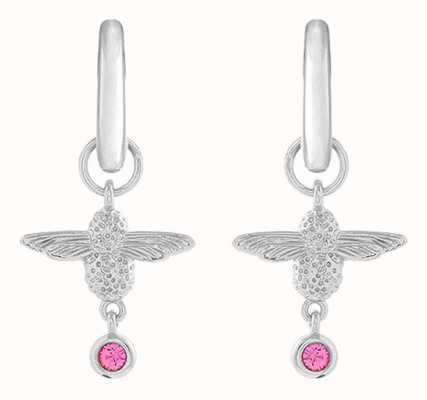 Olivia Burton | Mum To Bee | Huggie Hoop | Silver And Pink | Earrings | OBJAME165