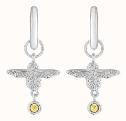 Olivia Burton | Mum To Bee | Huggie Hoop | Yellow And Silver | Earrings | OBJAME167