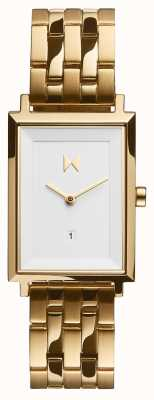 MVMT Signature Square | Gold Plated Steel Bracelet | White Dial D-MF03-G
