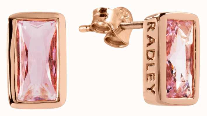 Radley Jewellery Radley Rocks | Rose Gold Plated Baguette Stone Stud Earrings RYJ1112S