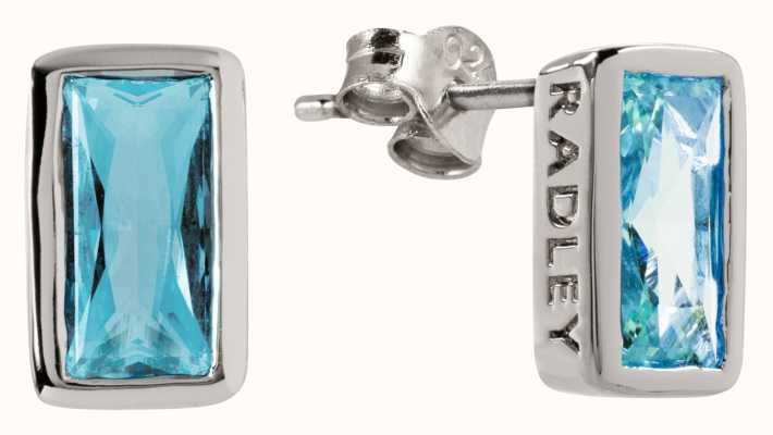Radley Jewellery Radley Rocks   Silver Baguette Stone Stud Earrings   RYJ1115S