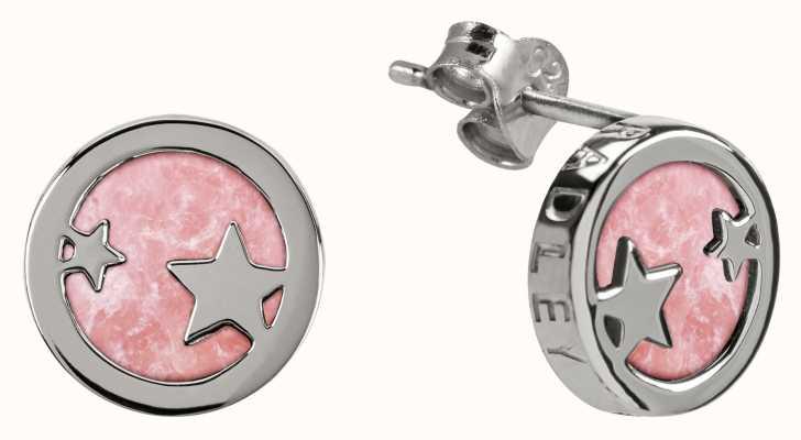 Radley Jewellery Stay Magical   Silver Rose Quartz Stud Earrings   RYJ1101