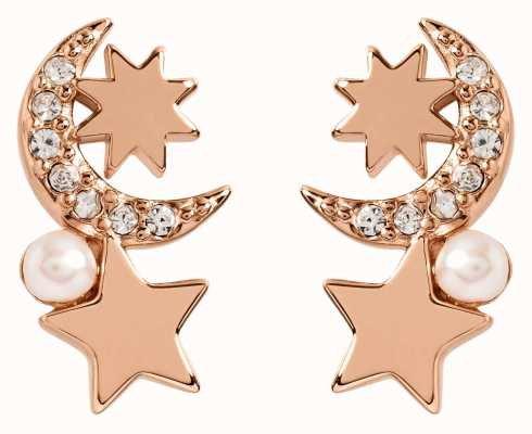 Radley Jewellery Star Gazing | Rose Gold Plated Pearl And Star Stud Earrings RYJ1106