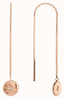 Radley Jewellery Star Gazing   Rose Gold Plated Moon And Stars Earrings   RYJ1104S