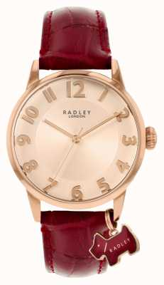 Radley Liverpool Street | Burgundy Leather Strap | Rose Gold Dial | RY2866
