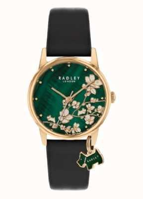 Radley Botanical Floral   Navy Leather Strap   Green Floral Dial   RY2882