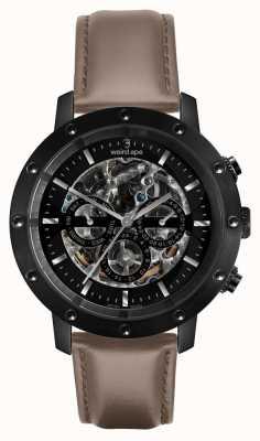 Weird Ape Icarus 3 Dial | Black Dial | Hazelnut Leather Strap WA02-005703