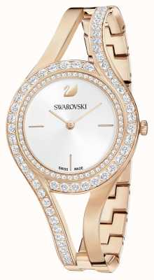 Swarovski | Eternal | Rose Gold Steel Bracelet | Crystal Set | White 5377576