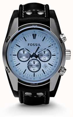 Fossil Mens Blue Dial Chronograph Watch CH2564