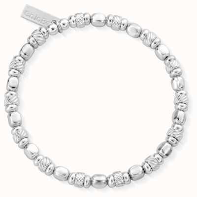 ChloBo | Women's Twisted Cube Filler Bracelet | 925 Sterling Silver SBTCUBE