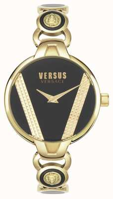 Versus Versace | Saint Germain | Gold Tone Stainless Steel | Black Dial | VSPER0319