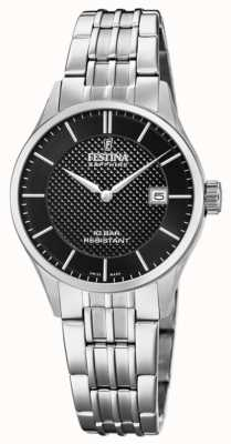 Festina | Women's Swiss Made | Stainless Steel Bracelet | Black Dial F20006/4