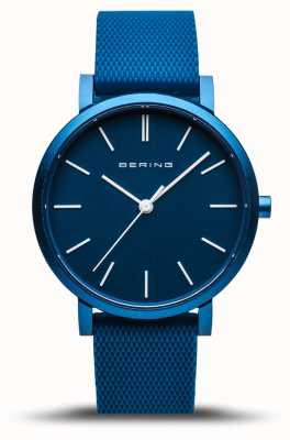 Bering | True Aurora | Blue Rubber Strap | Blue Dial | 16934-799