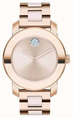 Movado Bold | Rose Gold Plated Bracelet | Rose Gold Dial | 3600639