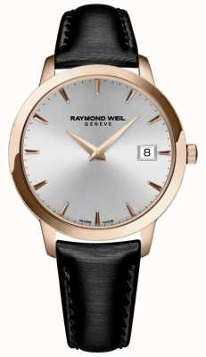 Raymond Weil Womens | Toccata | Black Leather Strap | Silver Dial 5388-PC5-65001