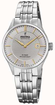 Festina | Women's Swiss Made | Stainless Steel Bracelet |Silver Dial F20006/2