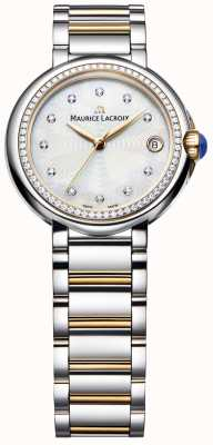 Maurice Lacroix Fiaba Womens Diamond Set Two Tone Mother Of Pearl FA1004-PVP23-170-1