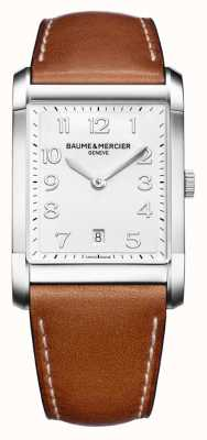 Baume & Mercier Mens Hampton | Brown Leather Strap | White Dial BM0A10153