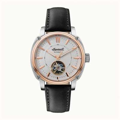 Ingersoll | The Director Automatic | Black Leather Strap | White Dial I08101